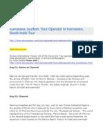 Karnataka Tourism, Tour Operator in Karnataka, South India Tour