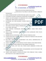 Latest Innovative Embedded Major Ece Projets List 2012-13