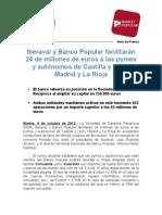Nota de Prensa Iberaval y Banco Popular