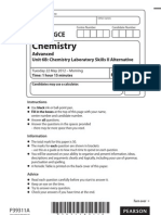 Edexcel Chemistry unit 6 june 2012 question paper