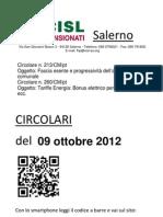 Circolari Del 09 Ottobre 2012