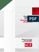 PSE Programa-electoral 2012