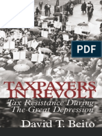 Taxpayers in Revolt_ Tax Resistance Duri - David T. Beito
