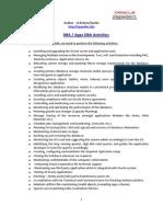 DBA AppsDBA Activities