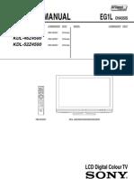 KDL40Z4500 Service Manual