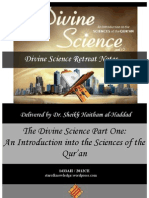 {Sabeel} Divine Science - Part One Retreat Notes