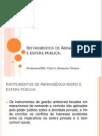 INSTRUMENTOS DE ABRANGÊNCIA MICRO E ESFERA PÚBLICA_2012