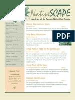 January 2009 Native Scape ~ Georgia Native Plant Society