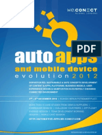 Automotive Apps and Mobile Device Evolution 2012_agenda