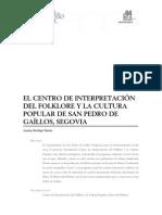 Dialnet- El Centro de Interpretacion Del Folklore Y La Cultura Popu