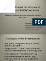 Energy Efficiency in Water - Southwest Florida Water and Wastewater Exposition Sept 13, 2012