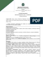 Conteudo Programatico PS 1 2013