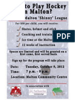 Shinny Hockey in Malton_Poster