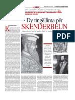 Dy tingellima për Skenderbeun - Ledi Shamku Shkreli (18 Jan 2009)