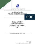 Percubaan STPM Negeri Kelantan 2012 - Geografi 1_skema