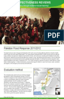 Effectiveness Review: Pakistan Flood Response 2011/12