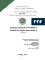 Proyecto de factibilidad para la creación de una microempresa en control biologico