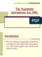 The Negotiable Instruments Act 1881 PPT