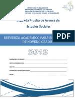 Segunda Prueba de Avance de 9ª Grado -  Estudios Sociales
