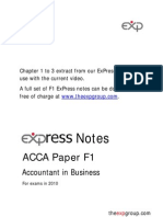 Acca F1 Expres Notes