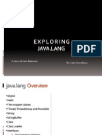 Presentation on java.lang package