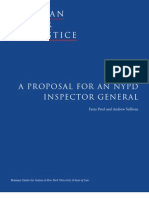 A Proposal for an NYPD Inspector General