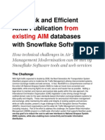 Low Risk and Efficient AIXM Publication From Existing AIM Databases
