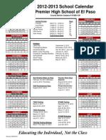 2012-2013 PHS El Paso