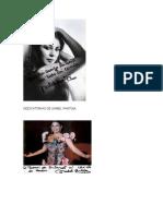 Dedicatorias y Autografo de Isabel Pantoja y Maria Del Monte