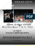 Music Fest Sponsor Packet 2012