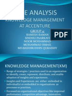 Case Analysis KM-Accenture RameshRaman 11MBA0089