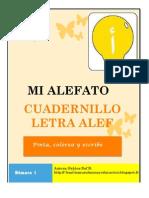 """cuadernillo """"MI ALEFATO""""  ALEF"""