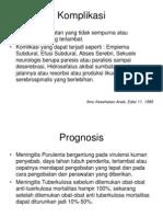 Meningitis Komplikasi Dan Prognosis