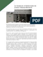 27-09-2012 Es Aristóteles Sandoval, el Gobernador de Jalisco, determina Tribunal Electoral