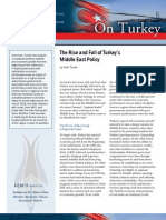 The Rise and Fall of Turkey's Middle East Policy