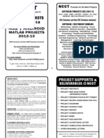 Software Project Titles Book 2012-13 - IEEE Matlab, Android, NS2