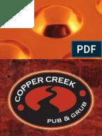 Copper Creek Menu