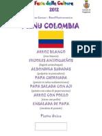 Menu Colombia