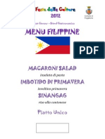 Menu Filippine