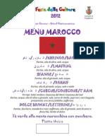 Menu Marocco