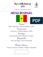Menu Senegal
