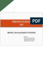 Presentation on Hotel Management System