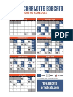 0809 Bobcats Schedule
