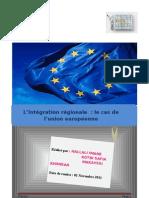 Intégration régional (Cas de l'Union Européenne)