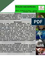 Poster Preservação das Espécies