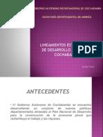 Lineamientos Estrategicos Cochabamba