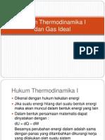 Hukum Thermodinamika I
