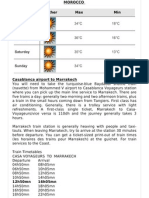 Morocco-sample itinerary