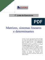 Lista de exercícios - Álgebra 2011.2 (1)