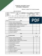 Programa curriculară la management pentru IASI